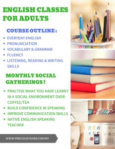 English Classes For Adults - Brochure New